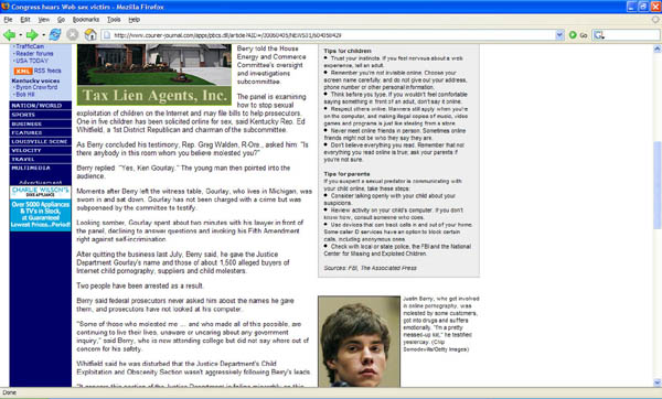 Louisville Courier-Journal screen capture